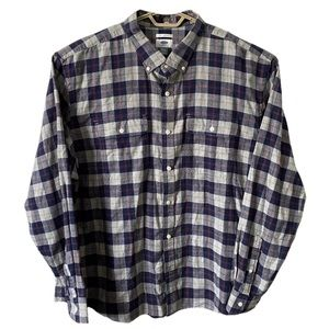 Old Navy Slim Fit Flannel Button Shirt Plaid